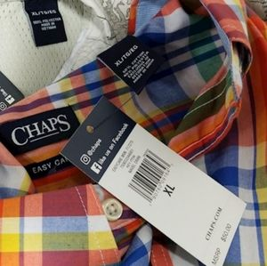 Chaps button up shirt XL NWT Easter Colors